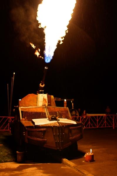 TC car flame